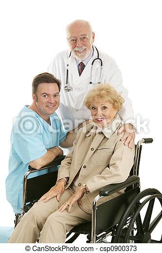 enfermeira, doutor, paciente, & - csp0900373