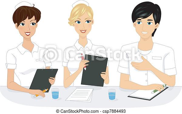 enfermeira, reunião - csp7884493