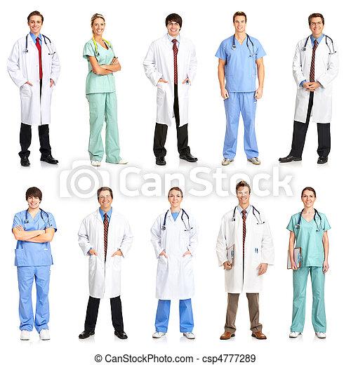 enfermeiras, doutores - csp4777289