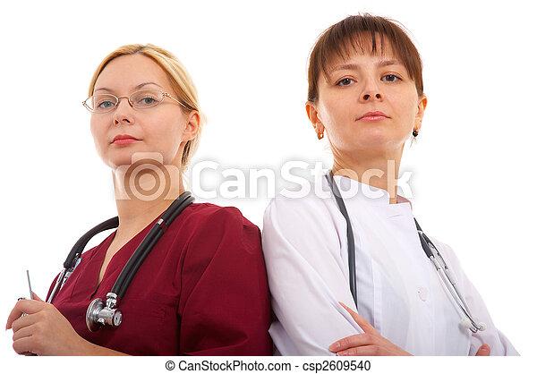 enfermera, doctor - csp2609540
