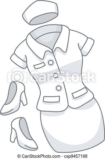Uniforme De Enfermera La Ilustración De Un Uniforme De