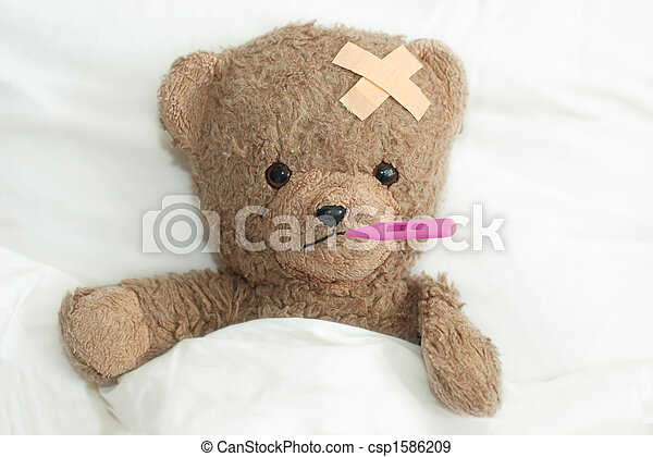 Teddy está enfermo - csp1586209