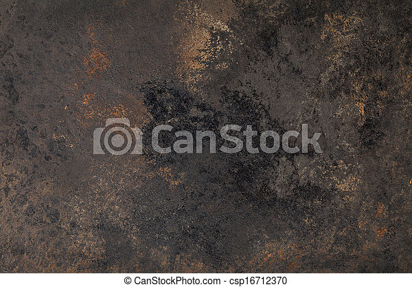 enferrujado, grunge, textura, fundo, ferro - csp16712370