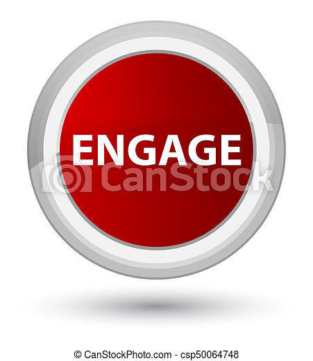 Engage prime red round button - csp50064748