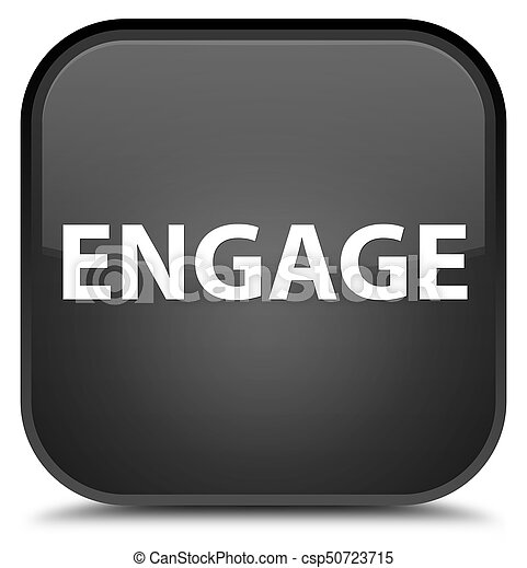 Engage special black square button - csp50723715