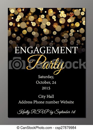 Engagement party invitation card vector illustration of party engagement party invitation card csp27879984 stopboris Image collections
