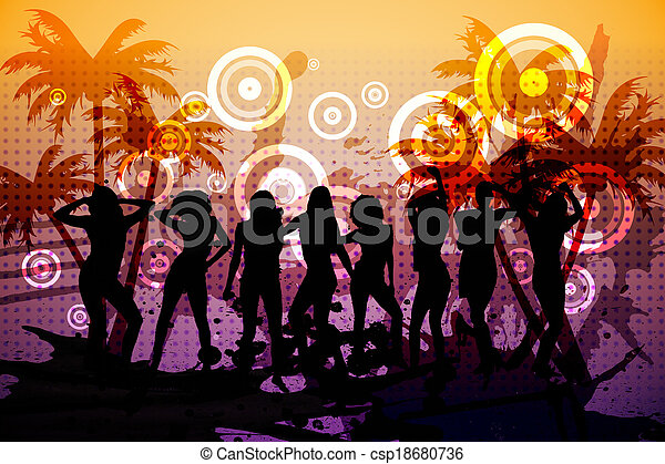engendré, digitalement, fond, boîte nuit - csp18680736