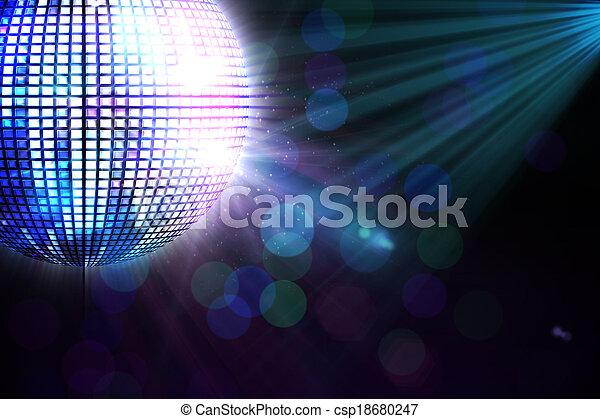 engendré, disco, digitalement, balle - csp18680247