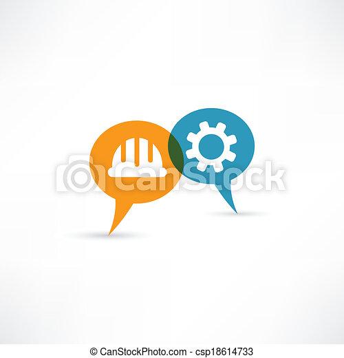 engenharia, ícone - csp18614733