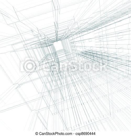 engenharia, conceito, arquitetura - csp8690444