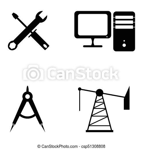engenharia, jogo, ícone - csp51308808