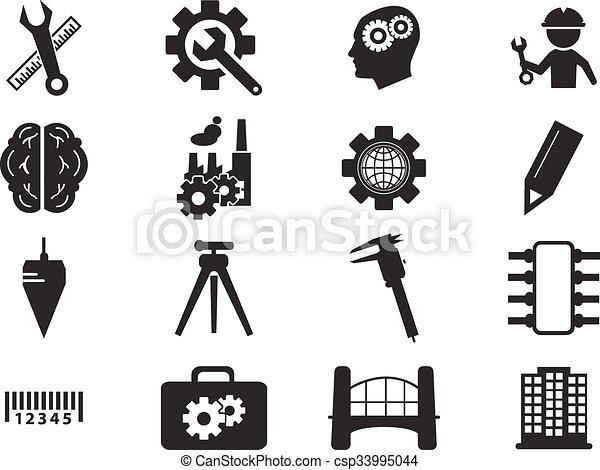 engenharia, jogo, ícones - csp33995044