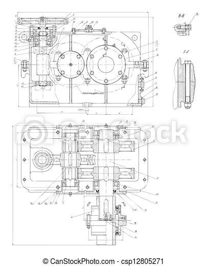 engenharia, olá-tecnologia, desenho - csp12805271