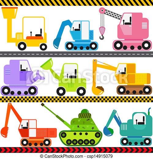 engenharia, veículos, trator, / - csp14915079
