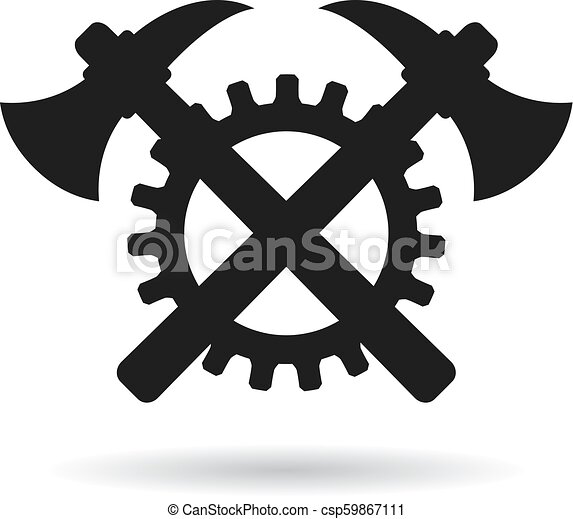 engenharia, vetorial, abstratos, ícone - csp59867111