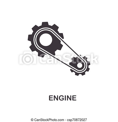 Engine creative icon. Simple element illustration. Engine concept symbol design from car parts collection. Can be used for web, mobile, web design, apps, software, print. - csp70872027
