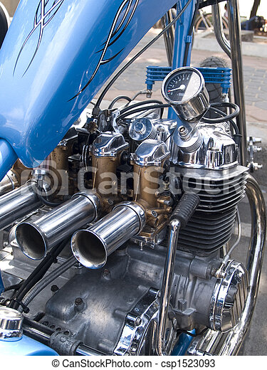 Engine detail of motorcycle
