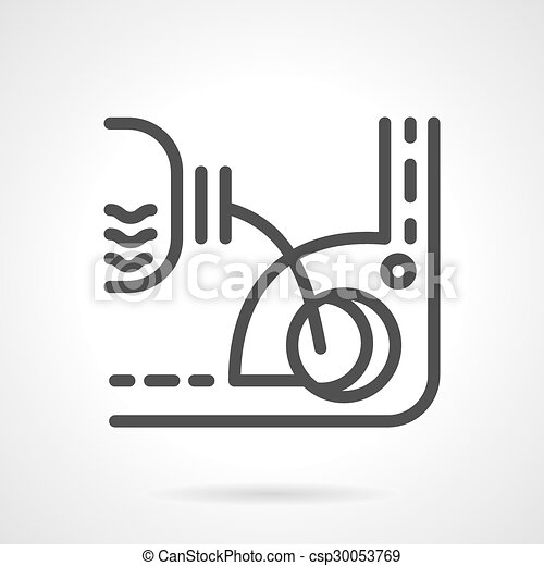 Engine Oil Change Simple Line Vector Icon Plastic Container Of Oil
