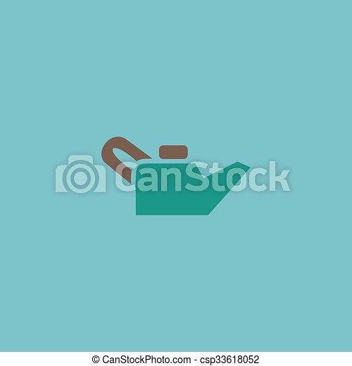 Engine Oil Single Flat Icon Vector Illustration Engine Oil