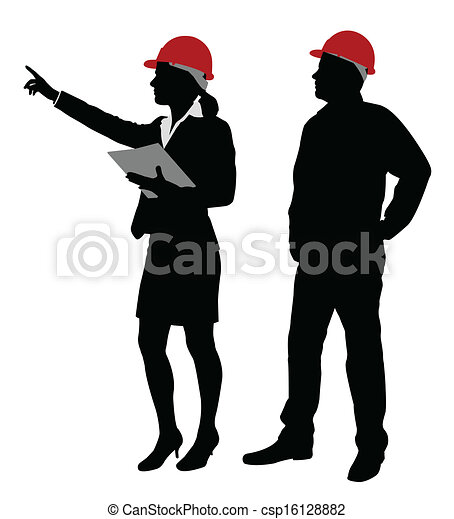 engineer and foreman working - csp16128882