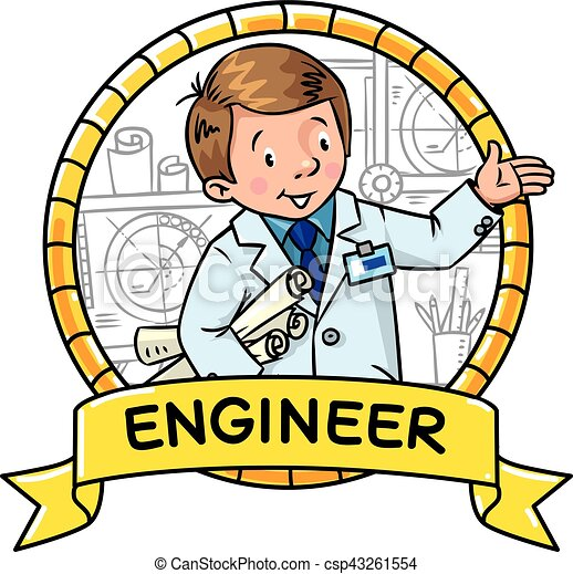 Engineer Coloring Book ABC Of Profession Emblem