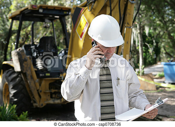Engineer Discussing Plans - csp0708736