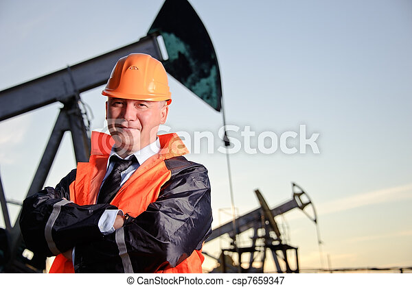 Engineer in an Oil field - csp7659347