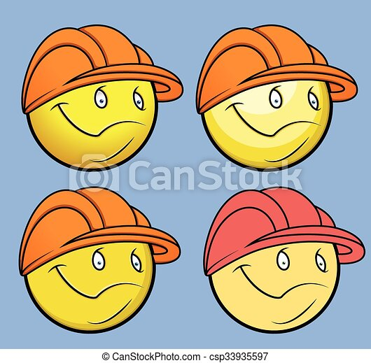 Engineer Smiley Vector Set - csp33935597