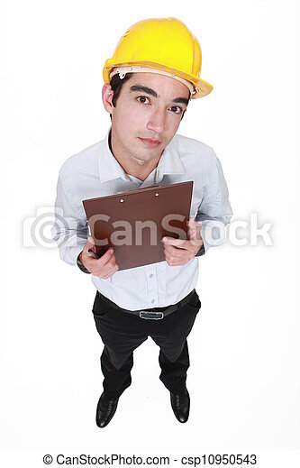 Engineer with a clipboard - csp10950543