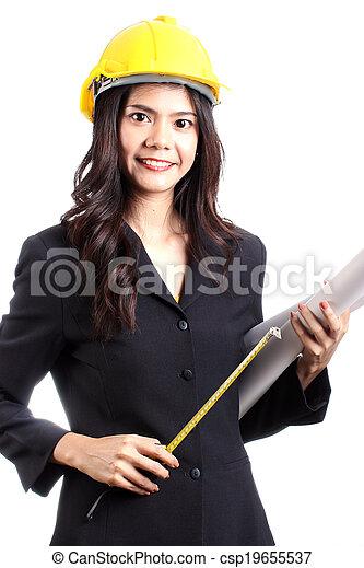 Engineer woman - csp19655537
