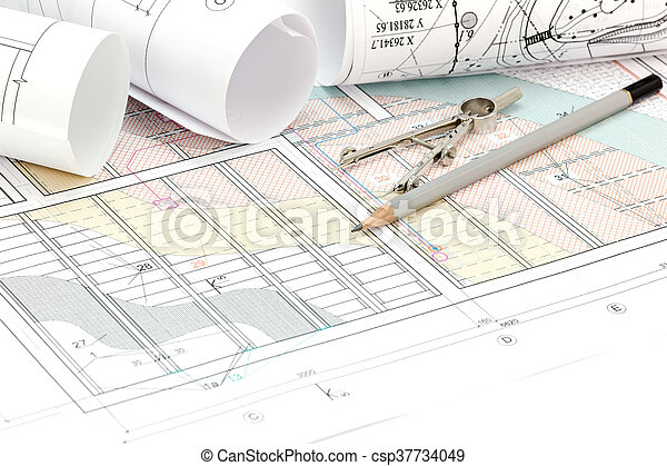 Engineering And Architecture Drawings With Drawing Tools