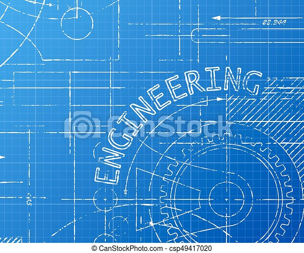 Engineering blueprint machine engineering word on machine vector engineering blueprint machine csp49417020 malvernweather Choice Image