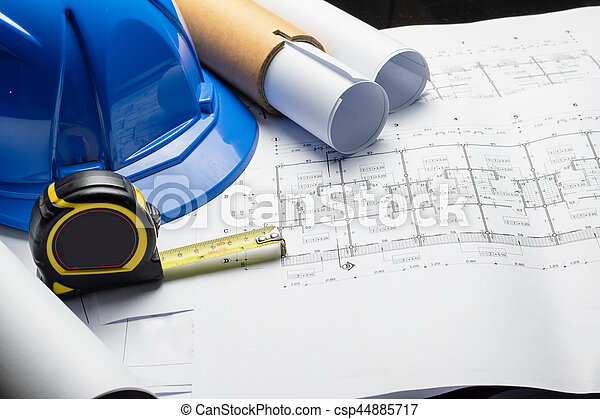 Engineering diagram blueprint paper drafting project sketch engineering diagram blueprint paper drafting project sketch stock photo malvernweather Image collections