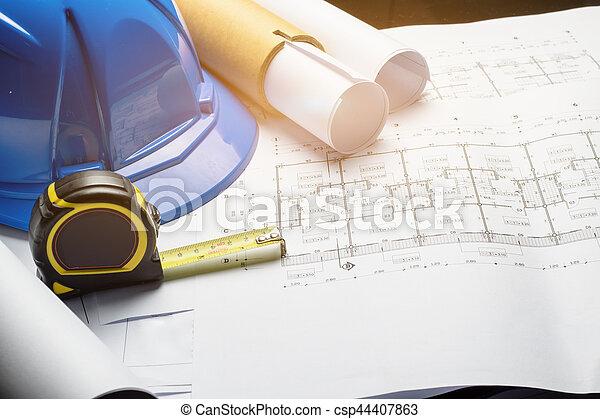 Engineering diagram blueprint paper drafting project sketch engineering diagram blueprint paper drafting project sketch architecturalselective focus malvernweather Images