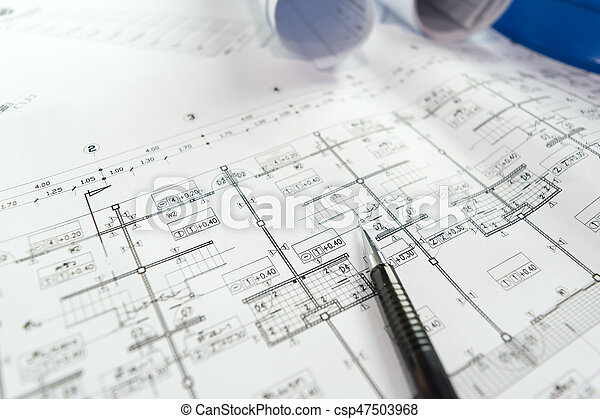 Engineering diagram blueprint paper drafting project sketch stock engineering diagram blueprint paper drafting project sketch csp47503968 malvernweather Image collections