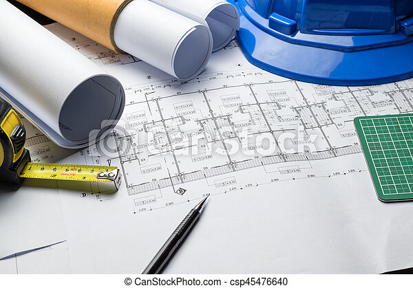Engineering diagram blueprint paper drafting project sketch stock engineering diagram blueprint paper drafting project sketch csp45476640 malvernweather Image collections