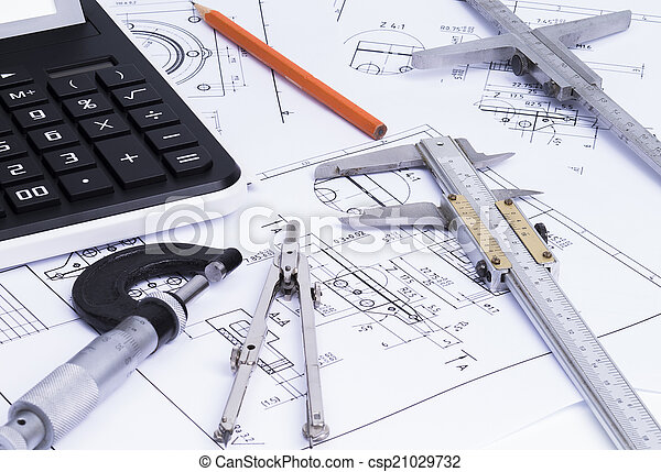 Engineerung tools on technical draw - csp21029732