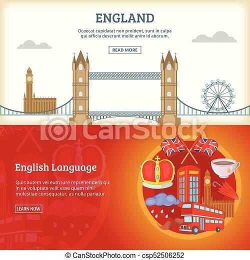England banner or poster set vector illustration - csp52506252