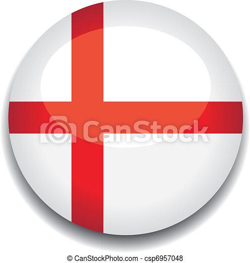 England Flag Button England Flag In A Button Vector Search Clip - Flag of england