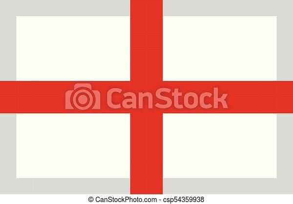 England Flag Pixel Art Cartoon Retro Game Style
