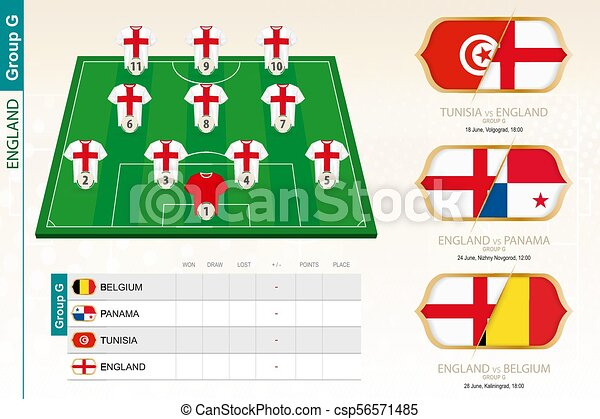 England football team infographic for football tournament. vector  illustration. fd77d9690