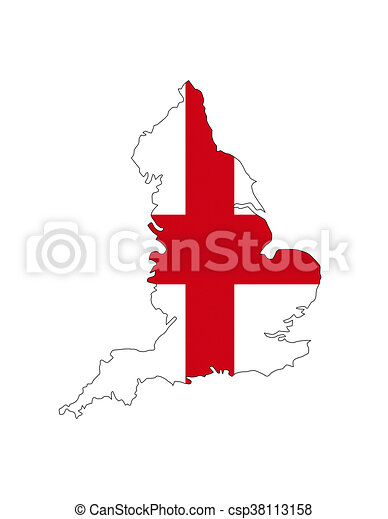 Map Of England Drawing.England Map Shape