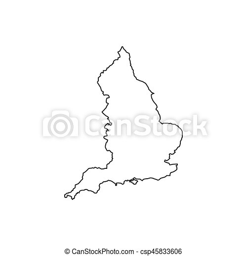 England Map Silhouette Illustration On The White Background Vector
