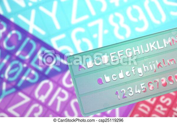 Englisches Alphabet Plastik Briefe Schablonen Briefe Alphabet