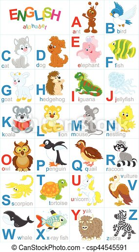 English alphabet - csp44545591