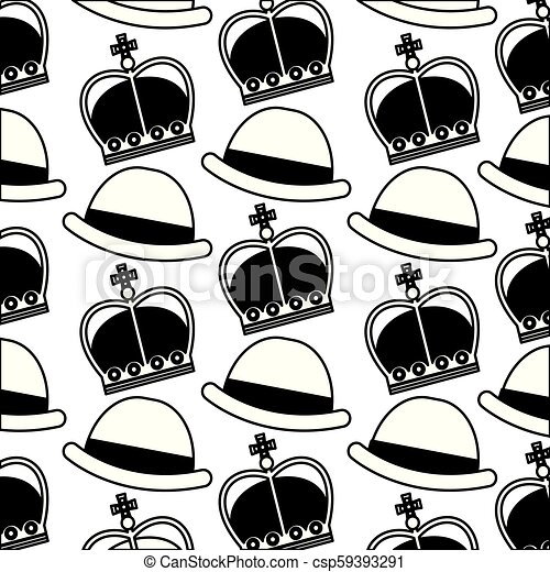 37a06d4d2898e English bowler hat and crown royal background vector illustration ...