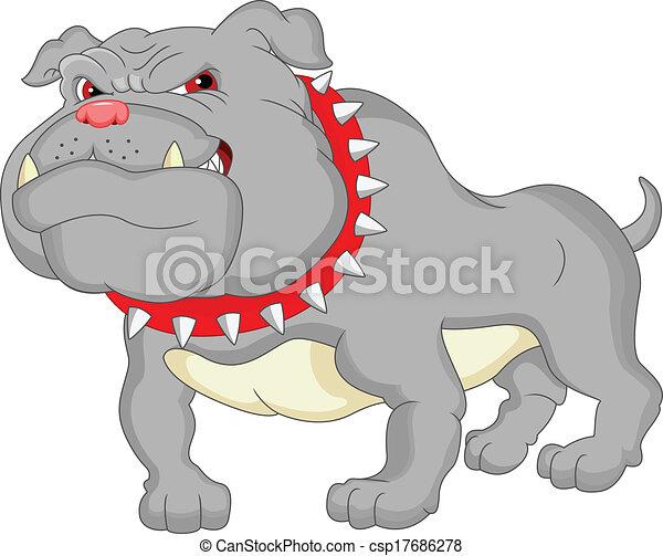 English bulldog cartoon - csp17686278