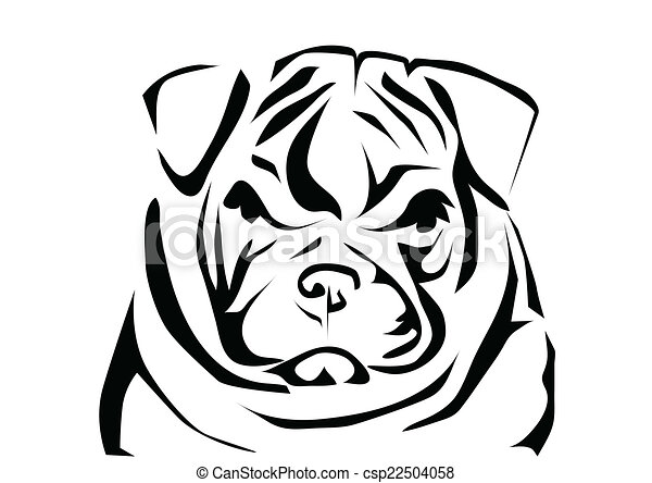 english bulldog abstract silhouette isolated on white rh canstockphoto com old english bulldog clipart English Bulldog Cartoon