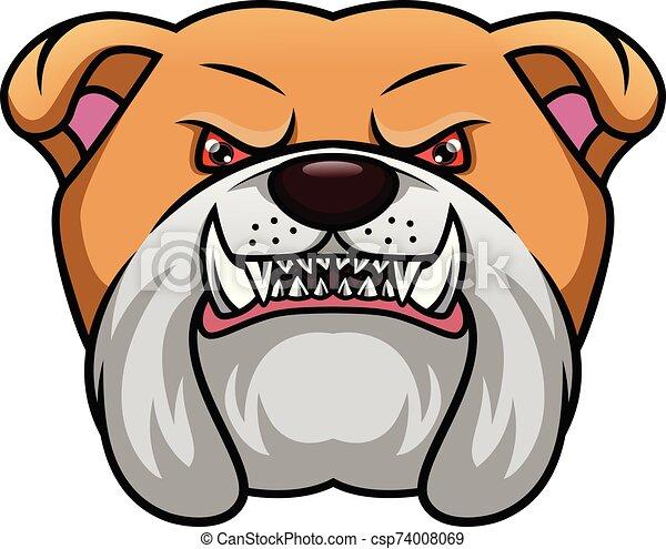 english bulldog head mascot - csp74008069