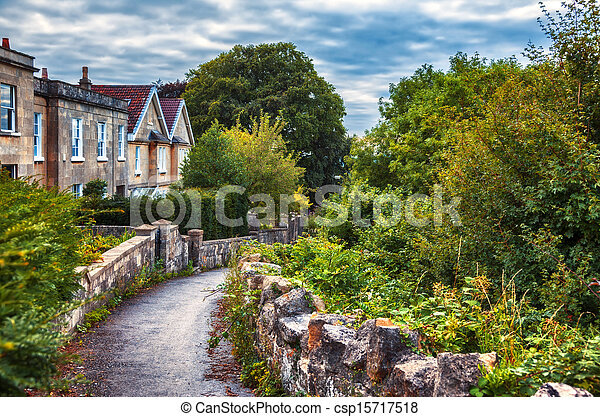 English evening village - csp15717518